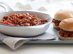 Healthier Sloppy Joes Recipe from Ellie Krieger, Food Network Best Sloppy Joe Recipe, Sloppy Joes Recipe, Fast Healthy Meals, Healthy Recipes, Healthy Eats, Healthy Cooking, Diabetic Recipes, Healthy Foods, Food Network Recipes