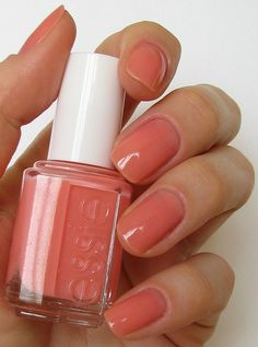 spring nails - Pretty Essie Nail Polish Swatches For The Real Women 27 - Sheer Nail Polish, Peach Nail Polish, Peach Nails, Coral Nails, Essie Nail Polish, Nail Polish Colors, Gel Polish, Essie Colors, Minimalist Nails