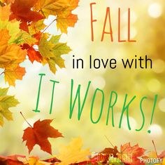Fall in love with ItWorks! Deals going on now! Text me for specials. 410-305-9222