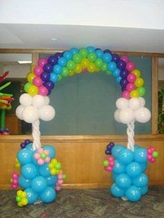 Balloon Archway-balloon animals would be added to this archway to further decorate it