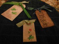 Irish - St. Patrick's Day Gift Tags - Primitive - Set of 3