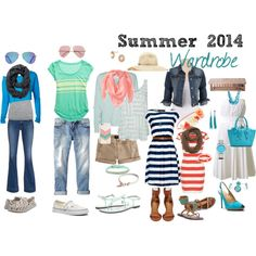"""""""Summer 2014 Wardrobe"""" by ramonakgibson on Polyvore"""