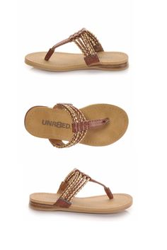 1ba42bd66cbb Your baby bohemian will love these laid-back thong sandals with braided  straps! Shoe Carnival