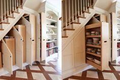 Cabinet Under Stairs, Under Stairs Drawers, Kitchen Under Stairs, Stair Drawers, Under Stairs Pantry Ideas, Under Staircase Ideas, Bar Under Stairs, Space Under Stairs, Stairway Storage