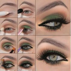 Green and Gold Makeup Tutorial - Nadyana Magazine