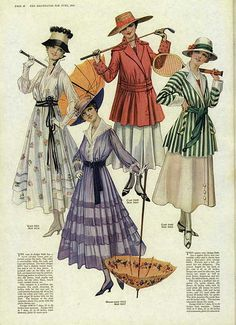 Magazine fashion illustration. Casual and sporting wear. 1916 | by dovima2010