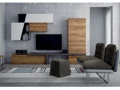 Tv Unit Design, Tv Wall Design, House Design, Living Room Tv, Home And Living, Tv Wand, Home Office Decor, Home Decor, Living Room Designs