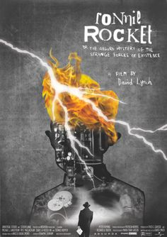 Poster for David Lynch's Ronnie Rocket #Davidlynch #ronnierocket #movieposter