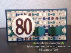 Stampin' Up! True Gentlemen DSP Large letters framelits envelope punch board