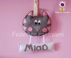 decoro gatto,feltro, fatto a mano ,italia, by federica creazioni, 28,00 € su misshobby.com
