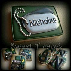 dogtag cookies - Google Search