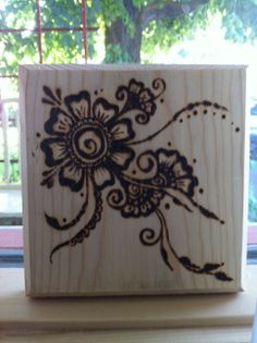 wood burned henna