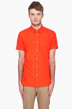 MARC BY MARC JACOBS //    Red Silk Blend Shirt