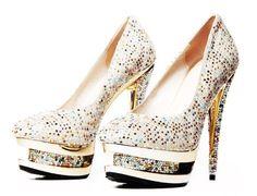 Crystal High Heel Shoes
