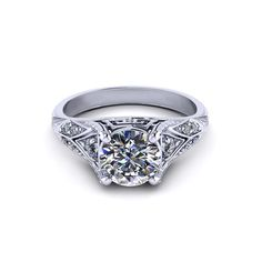 If you are looking for an artfully crafted engagement ring see the detailed engagement rings made in America by the artisans at Jewelry Designs.