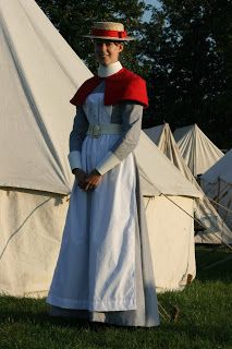 No, I am not playing Mary Poppins here! This is a Boer War nurse uniform. (Photo by Christine Pet-Sepers.)