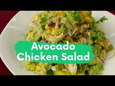 Avocado Chicken Salad Recipe For Weightloss Healthy Egg Recipes, High Protein Recipes, Easy Salads, Healthy Salad Recipes, Spaghetti With Ground Beef, Foods To Eat, Ground Beef Recipes, Delicious Food, Stuffed Peppers