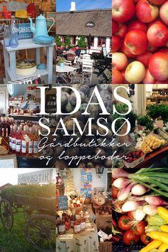 Når jeg er på Samsø, er det næsten obligatorisk for mig at komme forbi en af de lokale grøntsags- og loppeboder og tanke op på både friske…