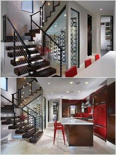 Under the stairs climate controlled wine rack. & Wine fridge under the stairs | New Southern Home - transitional ...