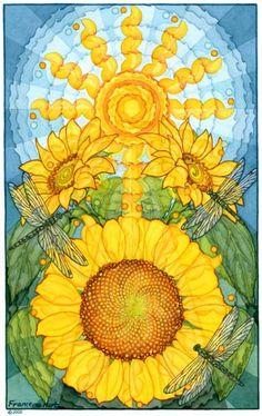 SUN Flower ~ by  Francene Hart