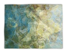Abstract Art plush fleece blanket throw, 30x40, 50x60, 60x80, lightweight fleece blanket in green and aqua, contemporary decor, Wintercreek