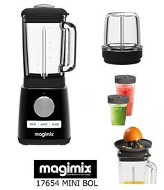 MAGIMIX BLENDER BLACK WITH MORE OPTIONAL ACCESSORIES (CITRUS PRESS-MILL ATTACHMENT-BLENDCUPS): Amazon.es: Hogar Kitchen Appliances, Amazon, Mini, Accessories, Black, Blenders, Food Processor, Diy Kitchen Appliances, Home Appliances