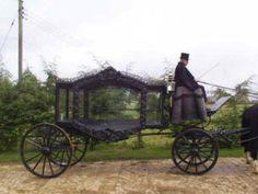 Cemeteries Ghosts Graveyards Hearses Spirits:  A Victorian hearse.