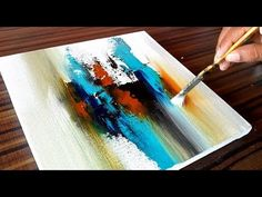 Making of Acrylic Abstract Painting / Project 365 days / Day #083 - YouTube