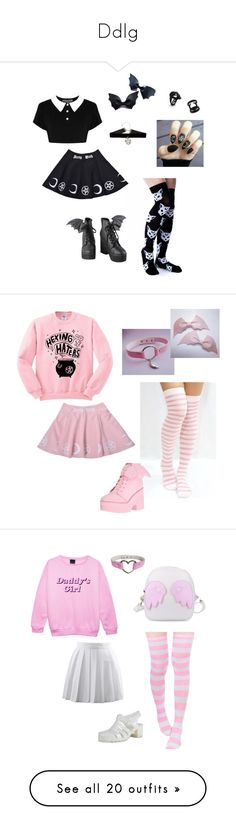 """""""Ddlg"""" by damageddoll ❤ liked on Polyvore featuring Killstar, Iron Fist, witch, ddlg, witchy, Pink, daddy, Y.R.U., Psycho and Boohoo"""