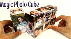 """How to make a """"Magic Photo Cube"""" for Mother's Day - Paper Craft Tutorial"""