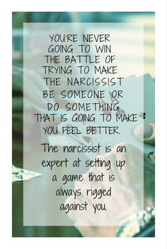 Isn't that the truth! Stop playing a rigged game and learn how to heal for real. It all starts here: https://www.melanietoniaevans.com/freestarterpackage.htm #narcissismtruth #sociopath #healforreal