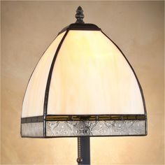 J Devlin Table Lamp 589-5, Tiffany Styled Stained Glass Table Lamps