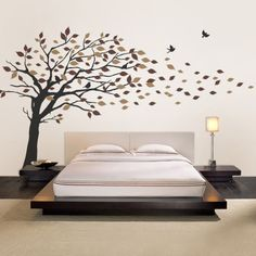 Blowing Leaves Tree Decal - Would be beautiful in a nursery