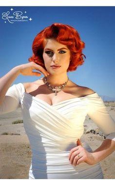 LAURA BYRNES MONICA white wiggle XL dress PINUP COUTURE bnwt rockabilly wedding #Dress #Fashion #Deal