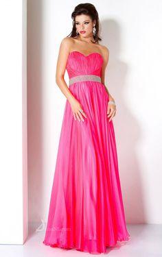Sheath Sweetheart Floor-length Chiffon Pink Dress
