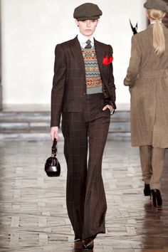 so funny to see this, I did a runway show back in the 80's and wore this (almost exact, down to the hat) outfit.....what goes around comes around.