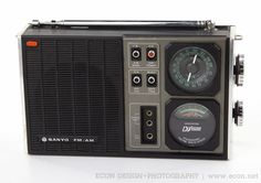 VINTAGE SANYO RP6000 TRANSWORLD DJ-1500 SOLID STATE AM FM RADIO EXCELLENT 1972 #Sanyo