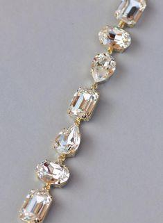 5 12 wrists MINT 1950/'s UpCycled Rhinestone Bracelet Small Wrists Vintage 1950/'s Clear Crystal Link Wedding Bracelet Wedding jewelry