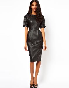 Obsessed with this leather dress