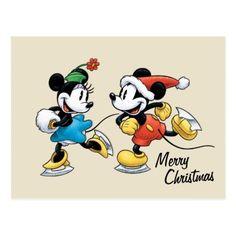 Disney Christmas Cards, Mickey Mouse Christmas, Christmas Stickers, Holiday Cards, Christmas Eve, Mickey Mouse Art, Disney Mickey, Retro Gifts, Holiday Postcards