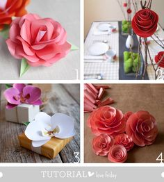 Tutorial Love Friday – Papel flower roundup