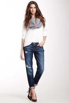 white top w/ jeans