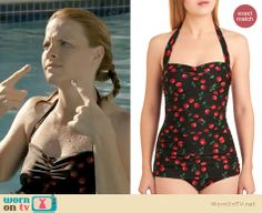 Daphne's cherry print swimsuit on Switched at Birth Katie Leclerc, Interesting Sites, Closet Collection, Fancy Pants, Awesome Things, Dress Me Up, Helpful Tips, Fashion Forward, Birth