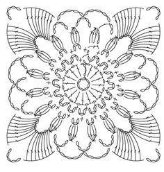 Croché square chart pattern - Picasa Web Albums