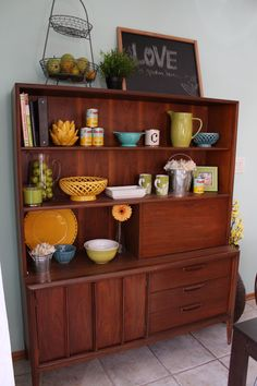 Not the hutch but the dish placement and such...