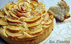 Bez Pszenicy: Ciasto drożdżowe z jabłkami (bezglutenowe, mąka ziemniaczana)