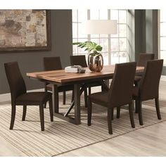 Shop for Reclaimed Wooden Block Design Table with Industrial Style Base and Ergonomic Chairs Dining Set. Get free delivery at Overstock.com - Your Online Furniture Shop! Get 5% in rewards with Club O!
