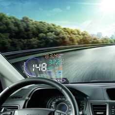 "A8 5.5"" OBD2 Car HUD Head Up Display  OBD II GPS Speedometer MPH/KMH OverSpeed/TEMP Warning LCD Digital Projector Vehicle"