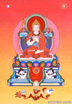 "Lama Tsong Khapa - painting by Peter ""Zotec"" Newman - www.artzotec.com"