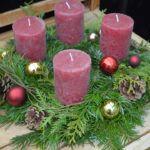 WeihnachtsZauber 2016 | Adventkranz Obelisk, Pillar Candles, Nature, Organic Farming, Home And Garden, Plants, Xmas, Naturaleza, Nature Illustration